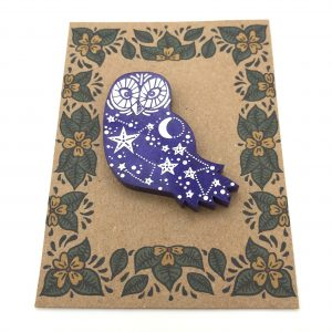 Owl - Shimmering Purple