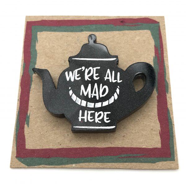 Tea Pot - Black Glitter