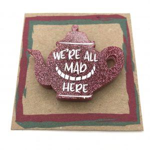 Tea Pot - Pink Glitter