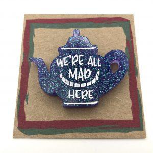 Tea Pot - Purple Glitter