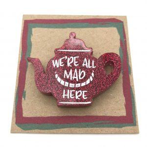 Tea Pot - Red Glitter