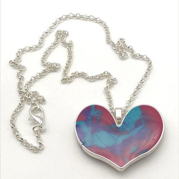 Bright Colour Mix Heart Necklace