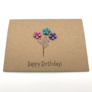 Flower Bunch Greetings Card