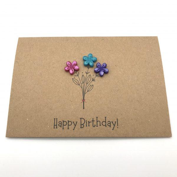 Flower Bunch Greetings Card