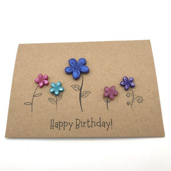 Flower Garden Greetings Card