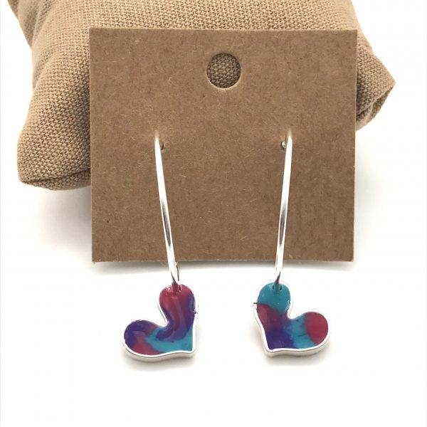 Heart Hoop Earrings - Vibrant Mix