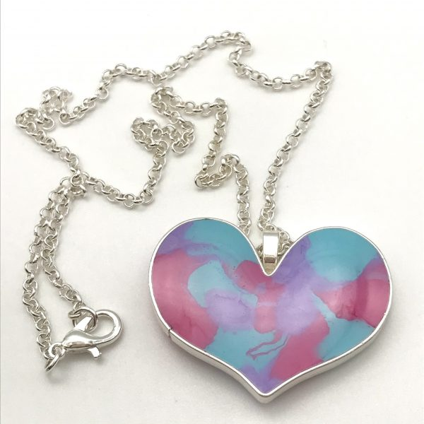 Pastel Colour Mix Heart Necklace