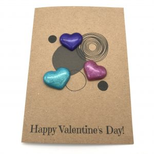 Random Hearts Greetings Card