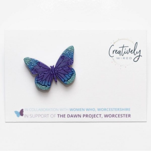 DAWN Charity Butterfly Pin Badge