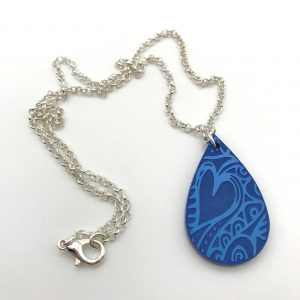 Etched Heart Necklace - Bluebell Woods