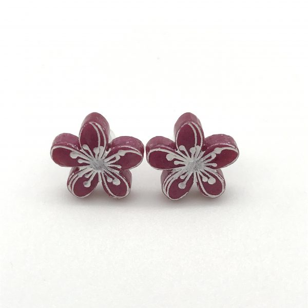 Etched Flower Studs - Classic Lippy