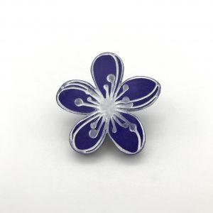 Etched Flower - Purple Passion
