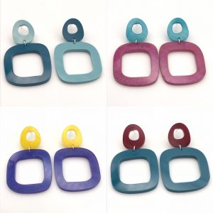Square Drop Earrings - Choose the Colours