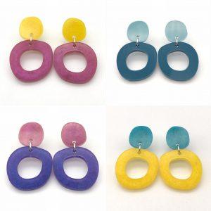 Circle Drop Earrings - Choose the Colours