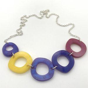 Circles Necklace - Purple Mix