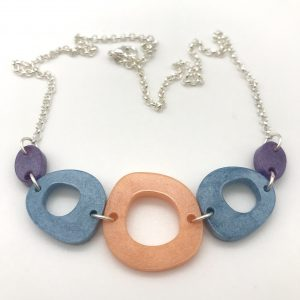 Multi Shape Necklace - Peach Centre