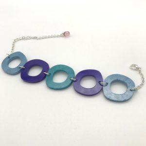 Circles Bracelet - Blue to Blue
