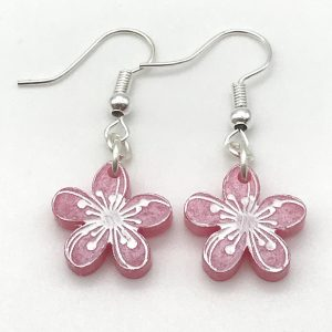 Etched Flower Dangles - Choose the Colour