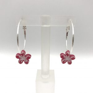 Etched Flower Hoops - Choose the Colour