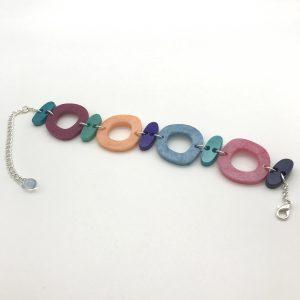 Multi Shape Bracelet - Aquamarine to Blue