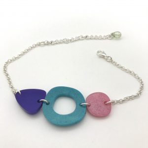 Multi Shape Bracelet - Purple to Pink