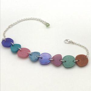 Multi Shape Bracelet - Purple to Rust