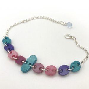 Pebble Bracelet - Aquamarine to Aquamarine