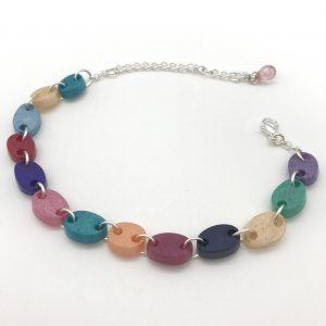 Pebble Bracelet - Aquamarine to Purple