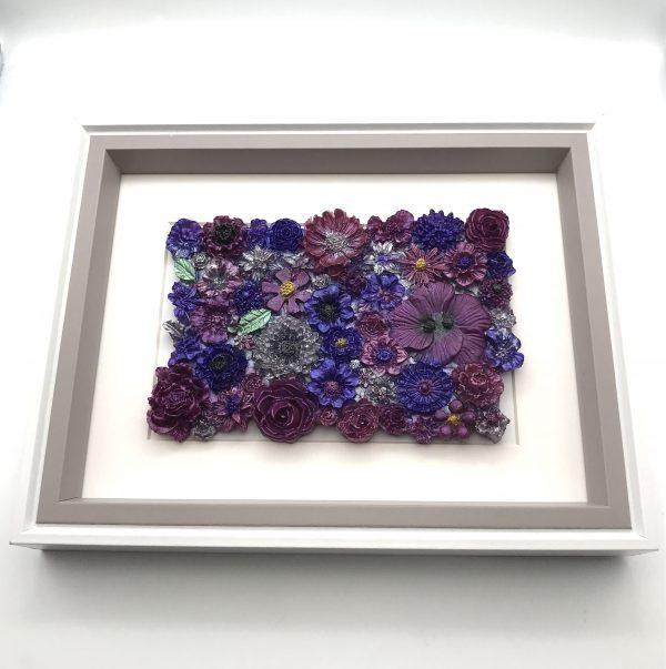 Flowers Galore Wall Hanging - Purple Mix
