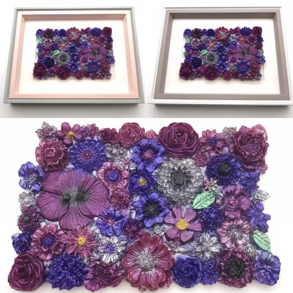 Flowers Galore Wall Hanging - Purple Mix Main