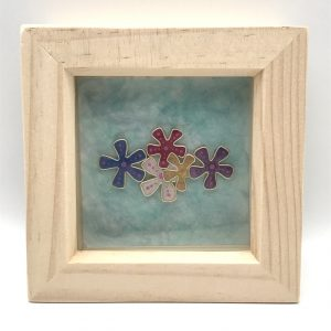 Framed Abstract Flower Wall Hanging